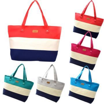 Beach Bag Handbag Tote Shoulder Purse Pink Large Canvas New Shopping Travel New