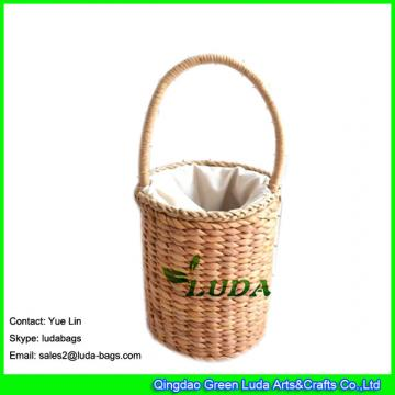 LDYP-040 drum shaped handbag ice cream small beach straw bags for children