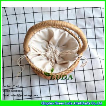 LDYP-040 drum shaped handbag ice cream small beach straw bags for children