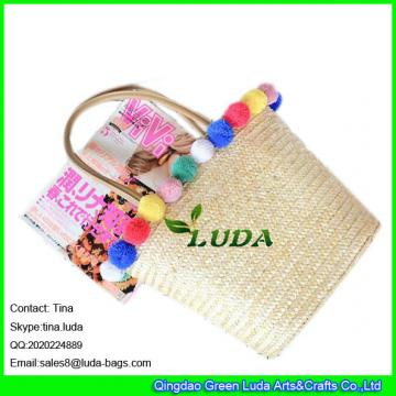 LDMC-062 2018 new designer summer travel vacation tote bag hand plaited beach straw bags