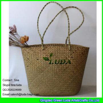 LDSC-002 natural water grass straw knitted women tote bag big size lady summer beach straw bags