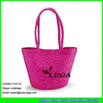LDMC-001 hand-woven tote bag wheat staw women beach bags
