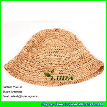 LDMZ-001 natural raffa cap crochet floopy straw hats