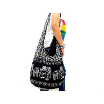 n 678 YOGA SUMMER BEACH SHOULDER BAG SLING HOBO UNISEX ELEPHANT THAI BOHO MONK