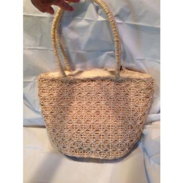 Liz Claiborne Shoulder Bag Purse Corn Husk Straw LARGE Beach Tote Excellent