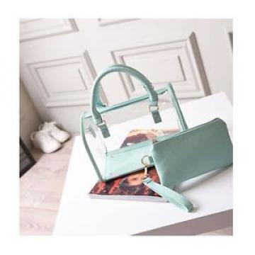 Green Transparent Shoulder Bag Jelly Package Women Beach Bag Charming Handbag
