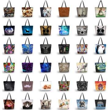 Lady Women's Large Capacity Zipper Handbag Shopping Bag Tote Shoulder Beach Bags