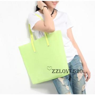 Hot Sale Women Shoulder Bag Jelly Silicone Shopping Bag Shopper Tote Beach Purse