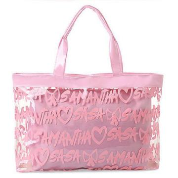 Women Transparent Clear Tote Jelly Candy Handbag Summer Beach Bag for Lady