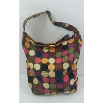 O'Neill Fabric Multi-Color Polka Dot Logo Beach Yoga Book Large Bag Purse Tote