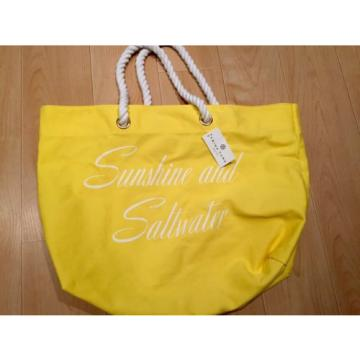 $55 Trina Turk Sunshine and Saltwater Summer Beach Canvas Large Tote Bag Nwts