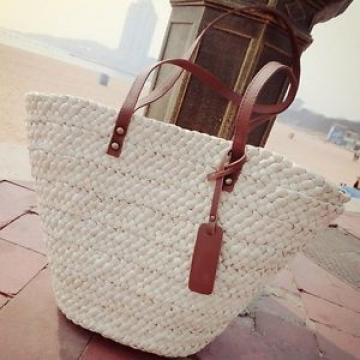 Fashion Women's Straw Beach Bag Lady Shoulder Bag Tote Beautiful Handbag
