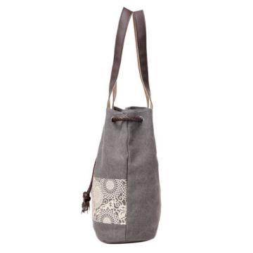 New Women Floral Canvas Bucket Casual Shoulder Bag Beach Bags Shopping Handbags