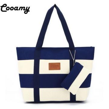 Women Beach Canvas Top-Handle Bag Fashion Stripes Printing Handbags Ladies louis