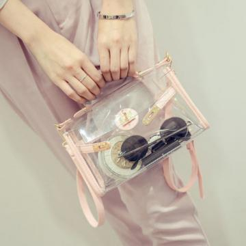 Women Girl Clear Transparent Shoulder Bag Jelly Candy Summer Beach Handbag Purse