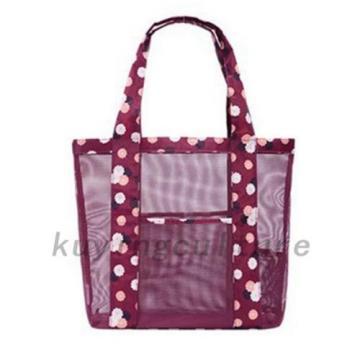 2 Colors Women Travel Shopping Mesh Beach Storage Shoulder Bag Handbag Hot