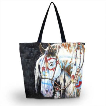 Cool Horse Shopping Shoulder Bags Women Handbag Beach Bag Tote HandBags
