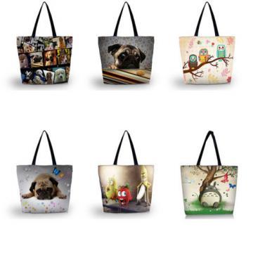 Many Designs  Summer Bags Beach Tote Shoulder Shopping Bag School Handbag