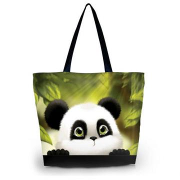 Panda Women Eco Shopping Tote Shoulder Bag Folding Beach Satchel Handbag Bag