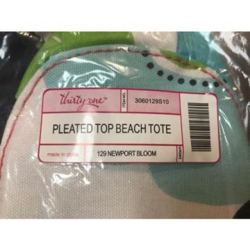 Thirty One PLEATED TOP BEACH TOTE in Newport Bloom *BRAND NEW IN BAG - RETIRED*
