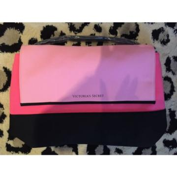 Victoria Secret VS Pink Black Beach Cooler Neoprene Insulated Tote Pool Bag NWT