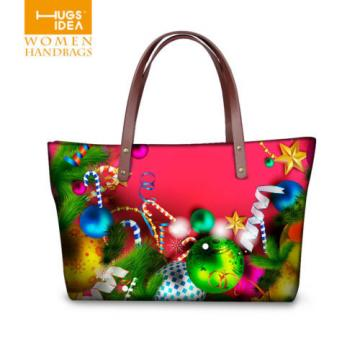 Christmas Girl's Shopping Shoulder Bags Women Handbag Beach Bag Tote HandBags