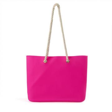 Women Silicone Bag Casual Tote Beach Purses Candy Color Silica Gel Handbag