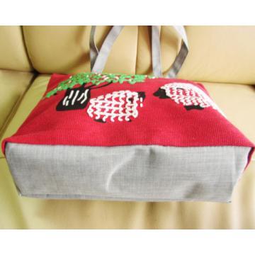 Lovely Girl Print Canvas zipper Closure Shopper Tote hobo beach Bag colorful 511