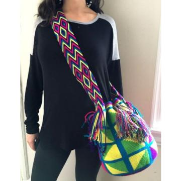 AUTHENTIC MOCHILA WAYUU Crossbody Beach Messenger Bag Boho Festival Coachella