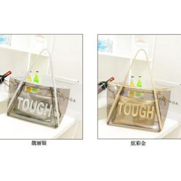 Women Clear Transparent Handbag Tote Shoulder Bag Fashion Jelly Candy Beach Bags