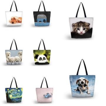 NEW Designs Animals Shopping Shoulder Bags Women Handbag Beach Bag Tote HandBags