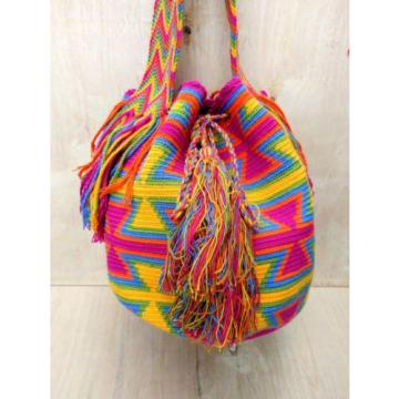 AUTHENTIC MOCHILA WAYUU LARGE Crossbody Beach Bag Boho Festival Coachella