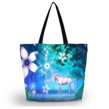 Unicorn Shopping Shoulder Bags Women Handbag Beach Bag Tote HandBags