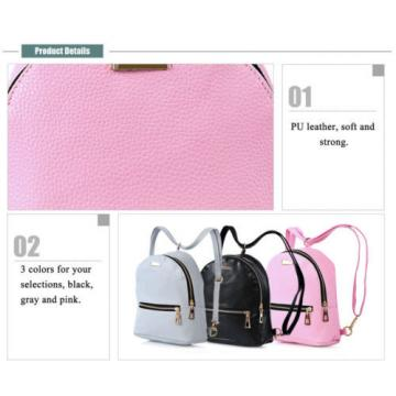 PU Leather Zipper Closure Small Backpack Shoulder Bag  for travel, beach, party