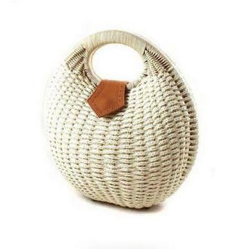 Women's Straw Handbag Rattan Bag Tote Handbag Summer Beach Bags Small Brand Bag