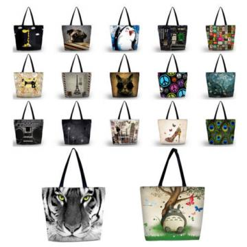 Elephant Women Shopper Handbag Shopping Summer Beach Shoulder Bag Tote Eco Bags