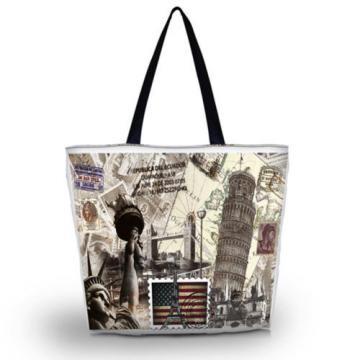 Women's Shopping Bag Soft Foldable Tote Shoulder Carry Bag Beach Stachel Handbag
