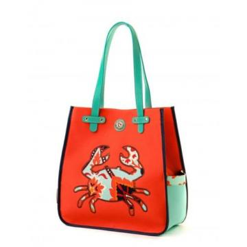 Beautiful Spartina 449 Waving Girl Crab Beach Bag- NWT