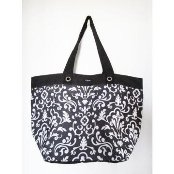 M3 Thirty One Storage Tote Shopping Beach Grocery Bag Black Parisian