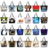 New Fashion Girl's Handbag Bag Polyester Shopping Bags Women's Totes Beach Bag #2 small image