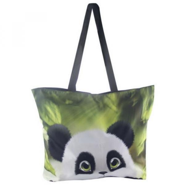 Panda Women Eco Shopping Tote Shoulder Bag Folding Beach Satchel Handbag Bag #2 image