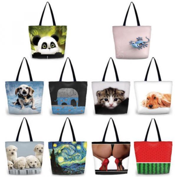 Panda Women Eco Shopping Tote Shoulder Bag Folding Beach Satchel Handbag Bag #5 image