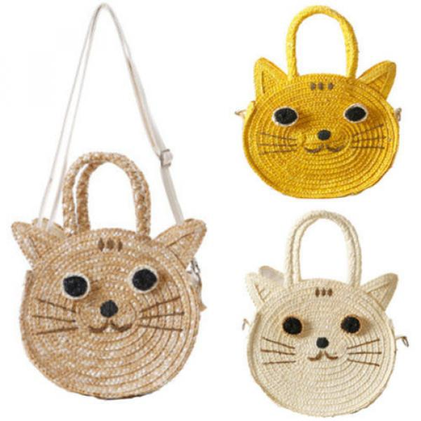 Natural Straw Weave Beach Bag Handbag Women Satchel Purse Crossbody Clutch Bags #1 image