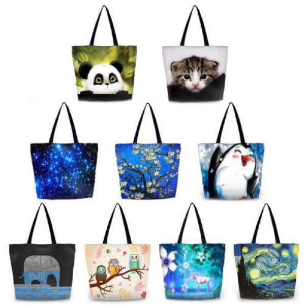 New Fashion Girl's Handbag Bag Polyester Shopping Bags Women's Totes Beach Bag #1 image