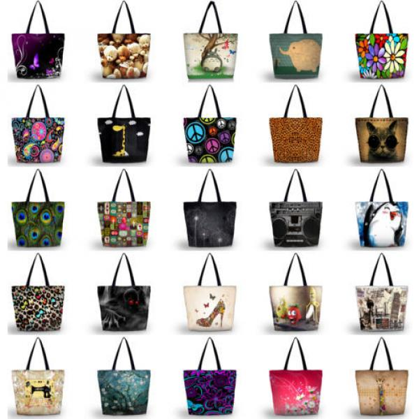 New Fashion Girl's Handbag Bag Polyester Shopping Bags Women's Totes Beach Bag #3 image