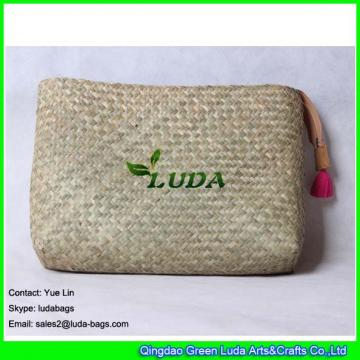 LDSC-188 natural seagrass bag hand plaited lady pouch clutch straw handbag