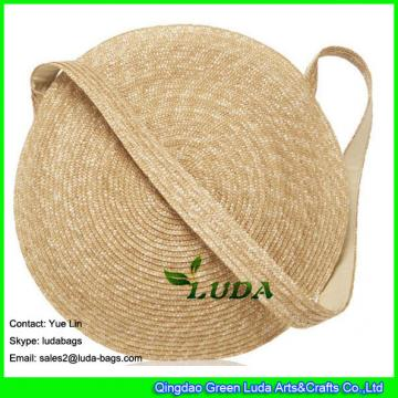 LDMC-005 new arrival large capacity beach bags rould circle  mesenger straw bag
