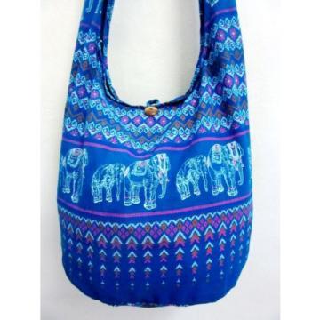 CHIC! BLUE ELEPHANT BAG SLING ADVENTURE BEACH HOBO BOHO SHOULDER PURSE LARGE MEN
