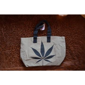 Tally Weijl Marijuana Leaf Tote Shopper Canvas People Festival Beach bag zara