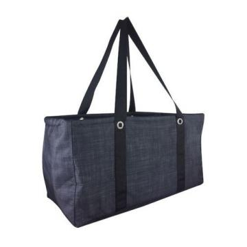NEW Thirty one Large utility beach laundry tote bag 31 gift in Black Cross Pop b